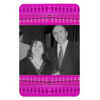 bright pink photo frame magnet