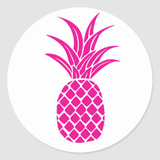 pink pineapple stickers zazzle. Black Bedroom Furniture Sets. Home Design Ideas