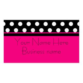Bright Pink Polka Dot Business Card