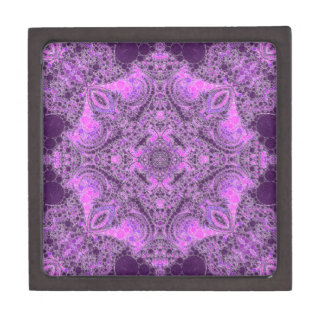 Bright Pink Purple Abstract Gift Box
