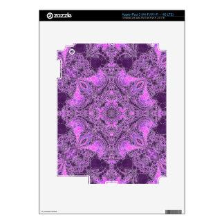 Bright Pink Purple Abstract iPad 3 Skin