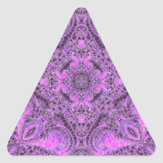 Bright Pink Purple Abstract Triangle Sticker