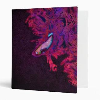 Bright Pink, Purple, and Blue Beta Fish Binder