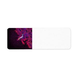 Bright Pink, Purple, and Blue Beta Fish Label