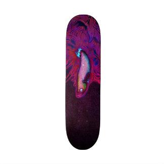 Bright Pink, Purple, and Blue Beta Fish Skate Deck