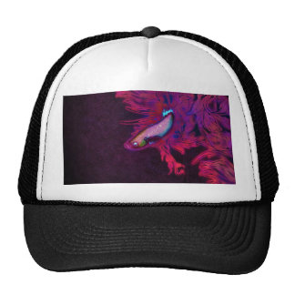 Bright Pink, Purple, and Blue Beta Fish Trucker Hat