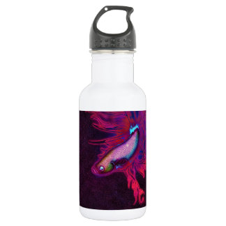 Bright Pink, Purple, and Blue Beta Fish Water Bottle
