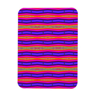 bright pink purple lines abstract rectangular magnet