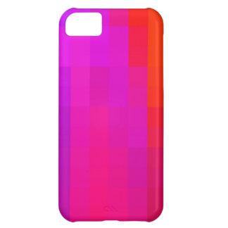 Bright Pink Purple & Orange Mosaic Pattern iPhone 5C Cases
