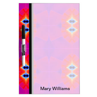 Bright Pink Red Fractal Abstract Dry Erase Board