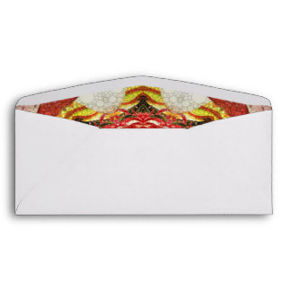 Bright Pink Red Rose Abstract Envelope
