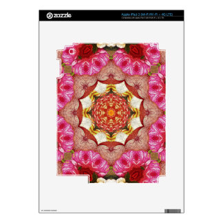 Bright Pink Red Rose Abstract iPad 3 Decal