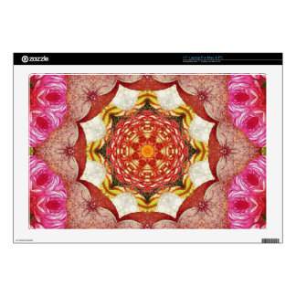 Bright Pink Red Rose Abstract Laptop Decals