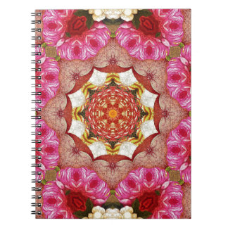 Bright Pink Red Rose Abstract Notebook