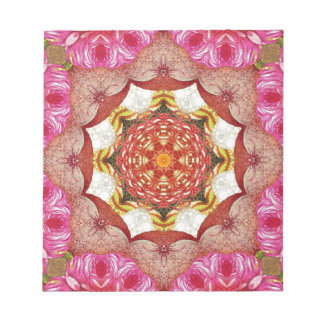 Bright Pink Red Rose Abstract Notepad