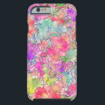 """Bright Pink Red Watercolor Floral Drawing Sketch Tough iPhone 6 Case<br><div class=""""desc"""">Bright Pink Red Watercolor Floral Drawing Sketch. A modern,  bright and colorful girly hand drawn flowers pattern featuring sketch of different flowers with lots of watercolor in pink,  purple,  red,  orange. Perfect gift for the girly girl who loves nature and trendy patterns</div>"""