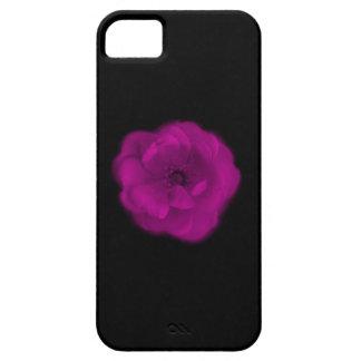 Bright Pink Rose. Black Background. iPhone SE/5/5s Case