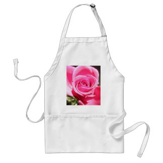 Bright Pink Rose Bud Roses Photo Adult Apron
