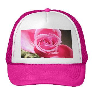 Bright Pink Rose Bud Roses Photo Trucker Hat