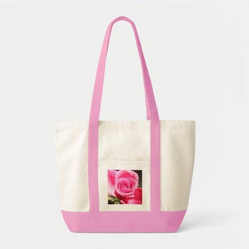 Bright Pink Rose Bud Roses Photo Tote Bag