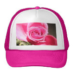Bright Pink Rose Bud Roses Photo Trucker Hat
