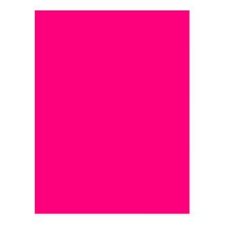 Bright Pink Rose hex code FF007F Postcard