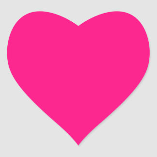 Bright Pink Rose hex code FF007F Heart Stickers