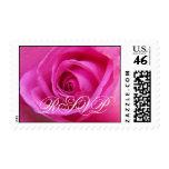 Bright Pink rose RSVP Postage Stamp