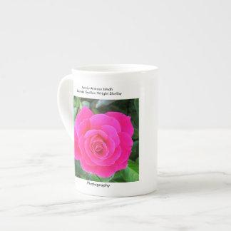 Bright Pink Rose Tea Cup