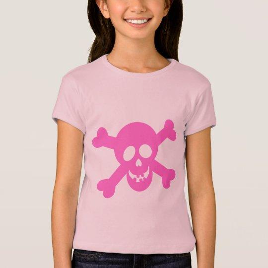 Bright Pink Skull & Crossbones T-Shirt