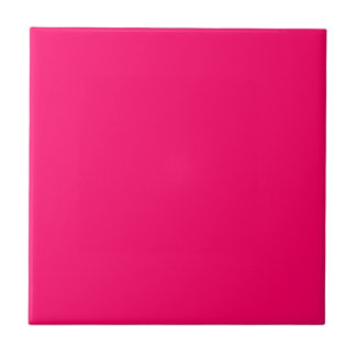 Bright Pink Solid Color Small Square Tile