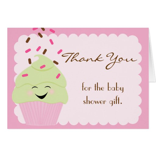 Bright Pink Sprinkles Thank You Card