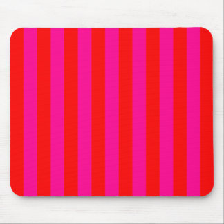 Bright Pink Stripes Mousepad