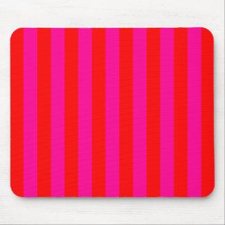 Bright Pink Stripes Mousepad