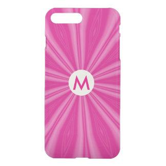 Bright Pink Sunburst with Initial iPhone 7 Plus Case