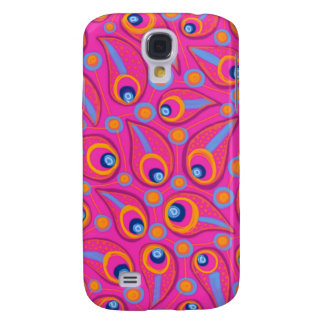 Bright Pink Teardrops Galaxy S4 Cover