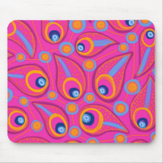 Bright Pink Teardrops Mousepads