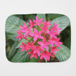 Bright Pink Tropical Flowers Burp Cloth