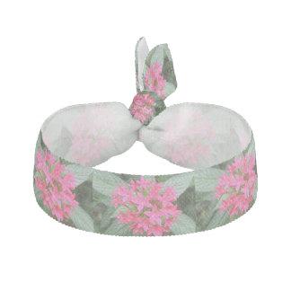 Bright Pink Tropical Flowers Hair Tie