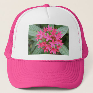 Bright Pink Tropical Flowers Hat