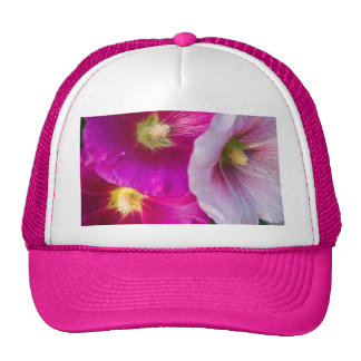 Bright Pink Tropical Hibiscus Flowers Trucker Hat