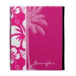Bright Pink Tropical Hibiscus iPad Folio Cases