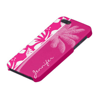 Bright Pink Tropical Hibiscus iPhone SE/5/5s Cover