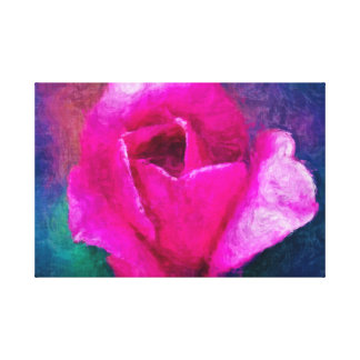 Bright Pink Tulip Floral Art Canvas
