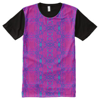Bright Pink Turquoise design All-Over-Print T-Shirt