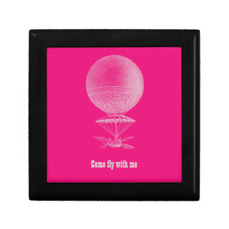 Bright pink vintage balloon gift boxes