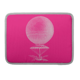 Bright pink vintage balloon sleeve for MacBooks