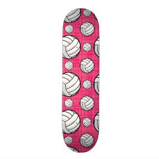 Bright Pink Volleyball Pattern Skateboard Decks