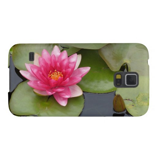 Bright Pink Water Lily Flower Cases For Galaxy S5