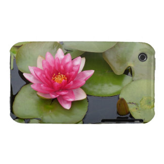 Bright Pink Water Lily Flower iPhone 3 Case-Mate Cases